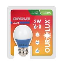 Lâmpada LED Certificada Ourolux Bolinha Azul 5W Bivolt
