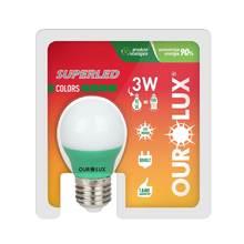 Lâmpada LED Certificada Ourolux Bolinha Verde 5W Bivolt
