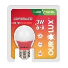 Lâmpada LED Certificada Ourolux Bolinha Vermelha 5W Bivolt