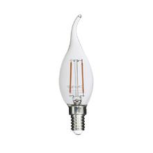 Lâmpada LED de Filamento Vela Chama Luz Âmbar 2W Uniled 220V
