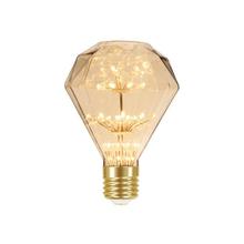 Lâmpada LED de Filamento Diamante Luz Âmbar 2W Taschibra Bivolt