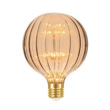 Lâmpada LED de Filamento Globo Luz Âmbar 2W Taschibra Bivolt