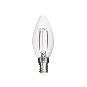 Lâmpada LED de Filamento Vela Luz Âmbar 2W Uniled 127V (110V)