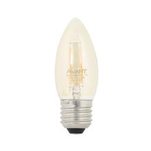 Lâmpada LED de Filamento Vela Luz Âmbar 2W Avant Bivolt