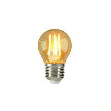 Lâmpada LED de Filamento Bolinha Luz Âmbar 4W Embu Led Bivolt
