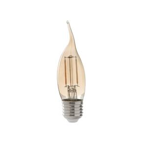 Lâmpada LED de Filamento Vela Chama Luz Âmbar 2W Bivolt Avant