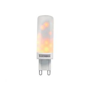 Lâmpada LED Flamejante Compacta Luz Amarela 1W Taschibra Bivolt