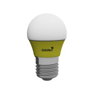 Lâmpada LED Golden Bolinha 3W Amarela Bivolt