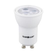 Lâmpada LED Dicróica Luz Amarela 3W Ourolux Bivolt