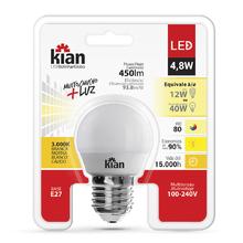 Lâmpada LED Bolinha Luz Amarela 4,8W Kian Bivolt