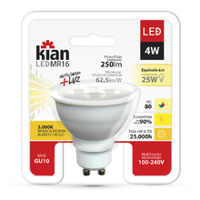 Lâmpada LED MR16 Luz Amarela 4W Kian Bivolt