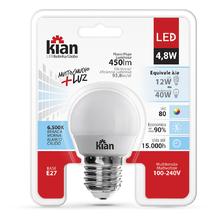 Lâmpada LED Bolinha Luz Branca 4,8W Kian Bivolt