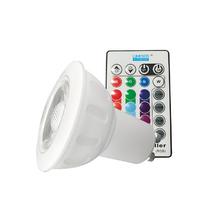 Lâmpada LED Dicróica Luz RGB 3,5W Luminatti Bivolt