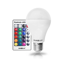 Lâmpada LED Bulbo Luz RGB 5W Ourolux Bivolt