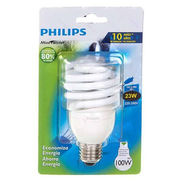 l mpada fluorescente mini espiral luz branca 23w 250v 220v philips leroy merlin. Black Bedroom Furniture Sets. Home Design Ideas