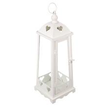 Lanterna Aço Decorativa 42x15cm Média Branco Importado