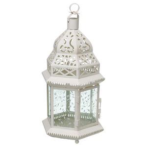 Lanterna Cala Alumínio 20cm Branca CJA