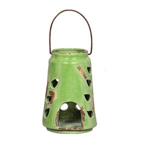 Lanterna Cerâmica Redonda Verde