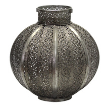 Lanterna Decorativa Balle Prata 26cm