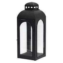 Lanterna Decorativa Block Preta 43cm