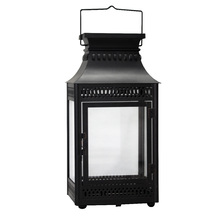 Lanterna Decorativa Carre Preta 45,5cm
