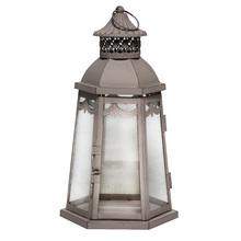 Lanterna Decorativa Etnic Cinza 33cm