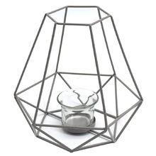 Lanterna Decorativa Metal Mandy Prata 7x16cm