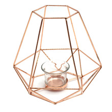 Lanterna Decorativa Metal Mandy Rose 7x16cm