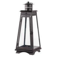 Lanterna Decorativa Tower Preta 30cm