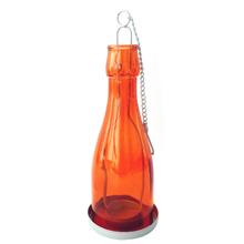 Lanterna Decorativa Vidro Joy Laranja 7x19cm