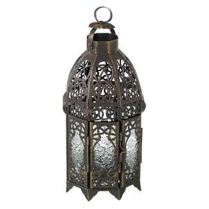 Lanterna Falak Alumínio 13cm Ouro CJA