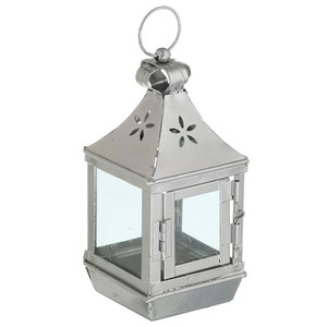 Lanterna Hind Alumínio 8cm Prata CJA