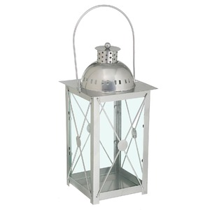 Lanterna Johara Alumínio 15cm Prata CJA