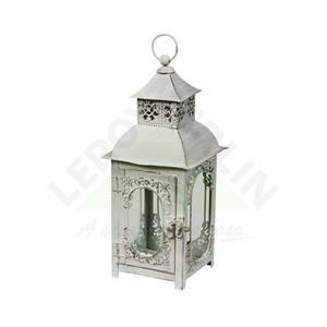 Lanterna Knob 12x12x29cm Branca Importado