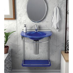 Lavatório Azul 46x50x62,50cm Cris-Mold Cris Metal