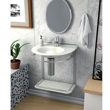 Lavatório Branco 46x50x62,50cm Cris-Mold Cris Metal