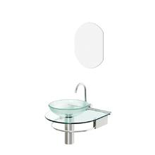 Lavatório Glass com Espelho 45,50x50x45,5cm Incolor Cris Metal