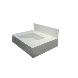 Lavatório Elegance Mármore Branco Pedras Feital