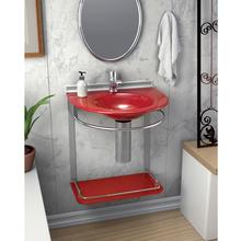 Lavatório Vermelho 46x50x62,50cm Cris-Mold Cris Metal