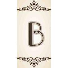 Letra  B em Cerâmica Bege Gabriella