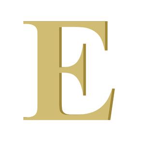 Letra '' E '' MDF 10cm Home Wood