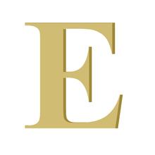 Letra '' E '' MDF 20cm Home Wood