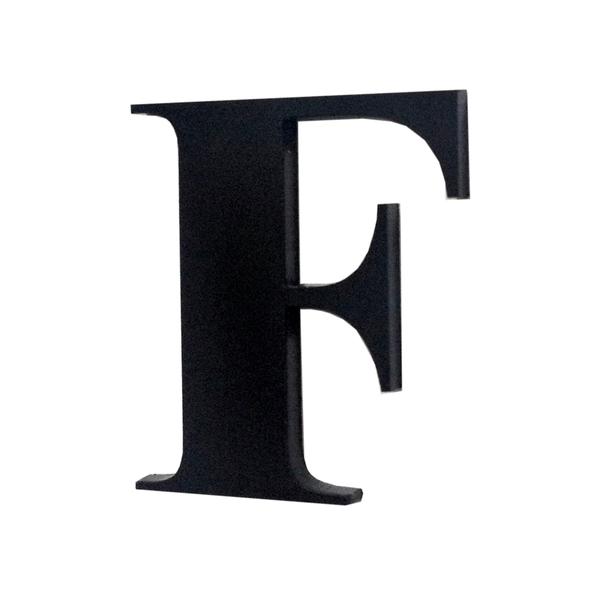 Letra apartamento f 4cm adesivo acr lico preto leroy - Letras adhesivas leroy merlin ...