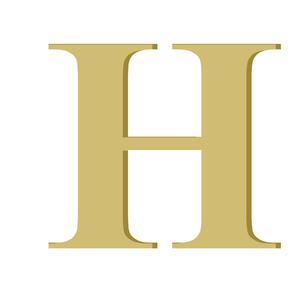 Letra '' H '' MDF 10cm Home Wood