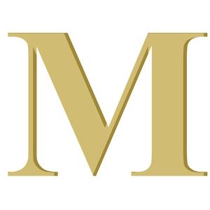 Letra '' M '' MDF 10cm Home Wood