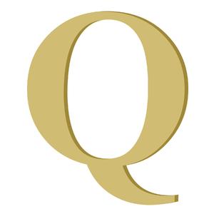 Letra '' Q '' MDF 20cm Home Wood