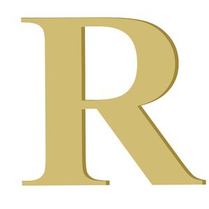 Letra '' R '' MDF 20cm Home Wood