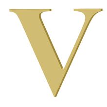 Letra '' V '' MDF 10cm Home Wood