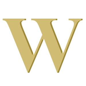 Letra '' W '' MDF 20cm Home Wood