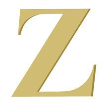 Letra '' Z '' MDF 20cm Home Wood